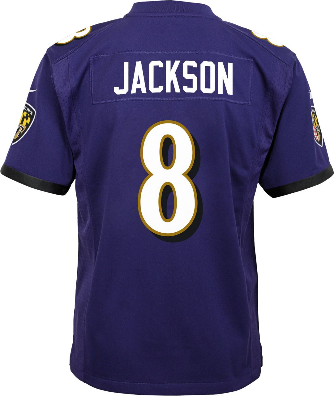 cheap for discount 08fe5 9ab0c Lamar Jackson #8 Nike Youth Baltimore Ravens Home Game Jersey