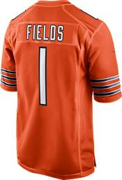 Nike Youth Chicago Bears Justin Fields #1 Orange Game Jersey product image