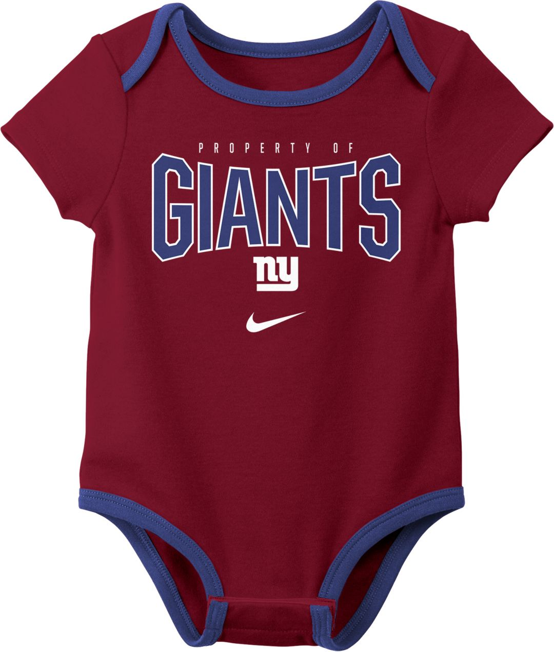 450f6f91 Nike Infant New York Giants Icon 3-Pack Bodysuit