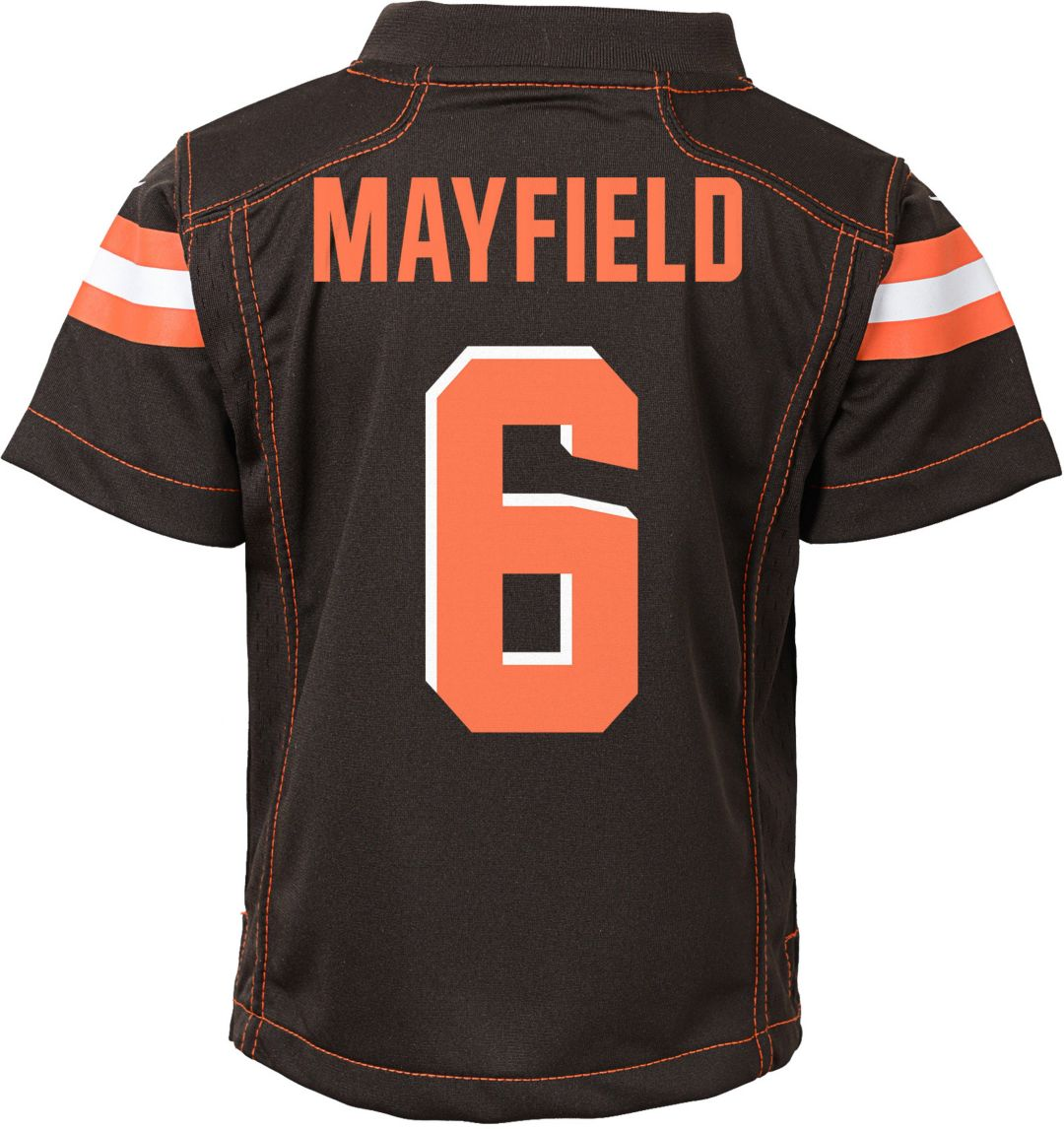 innovative design 4e2f8 931b3 Nike Toddler Home Game Jersey Cleveland Browns Baker Mayfield #6