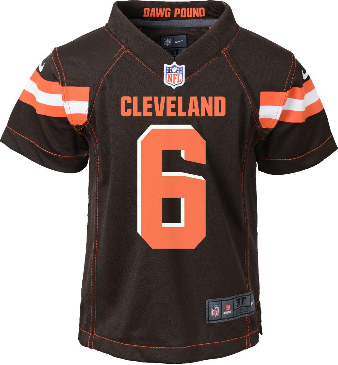 innovative design f6c18 5580b Nike Toddler Home Game Jersey Cleveland Browns Baker Mayfield #6