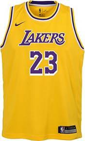 Nike Boys' Los Angeles Lakers LeBron James #23 Gold Dri-FIT Swingman Jersey product image