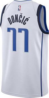 Nike Youth Dallas Mavericks Luka Doncic #77 White Dri-FIT Swingman Jersey product image