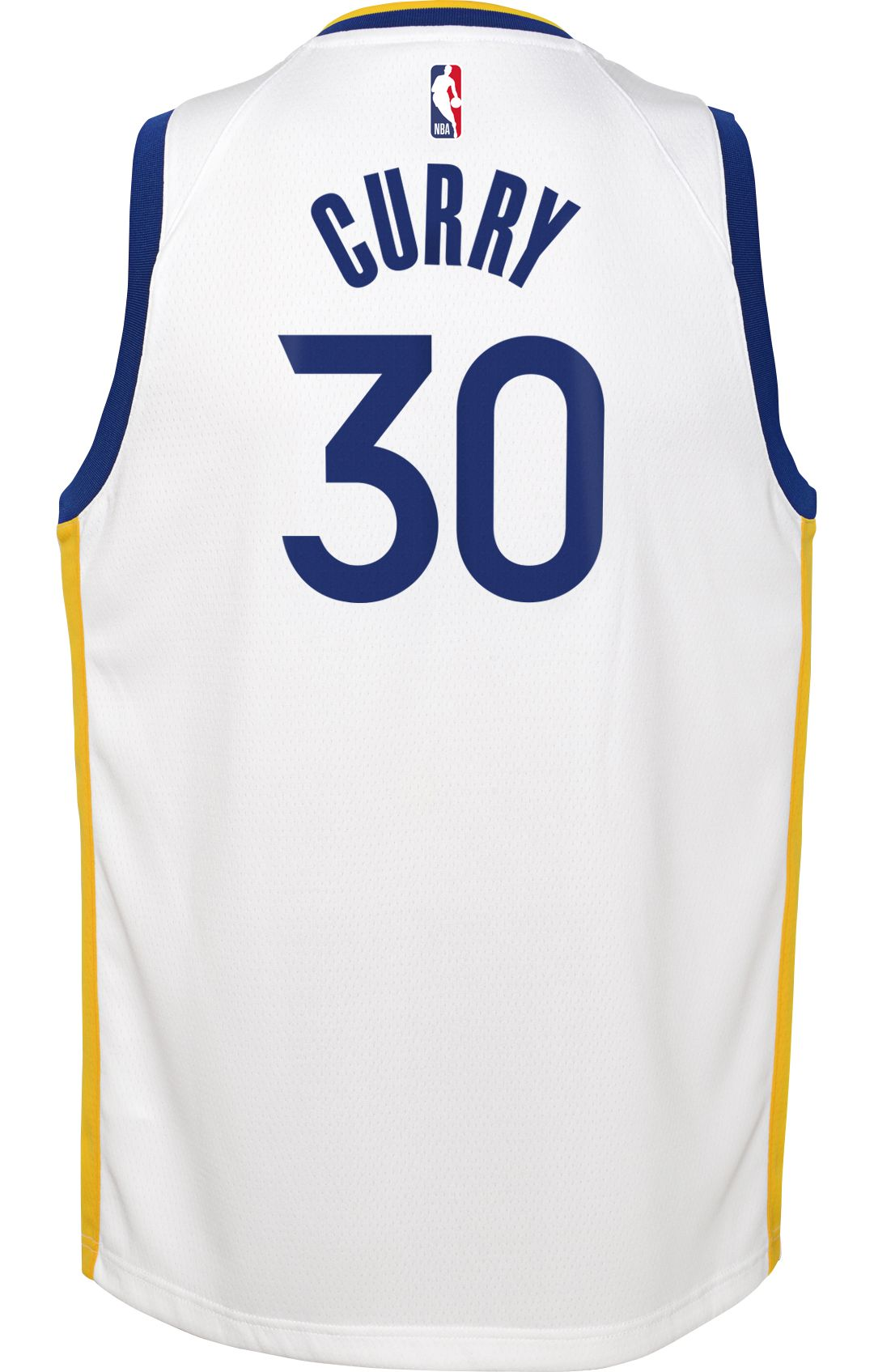 reputable site 19f00 ca197 Nike Youth Golden State Warriors Steph Curry #30 White Dri-FIT Swingman  Jersey