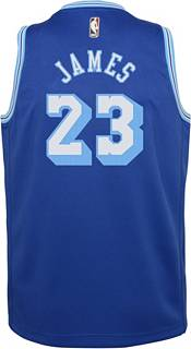 Nike Youth Los Angeles Lakers LeBron James #23 Blue Dri-FIT Hardwood Classic Jersey product image