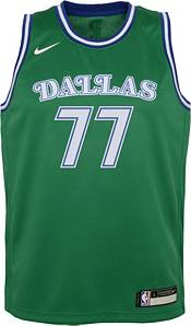 Nike Youth Dallas Mavericks Luka Doncic #77 Green Dri-FIT Hardwood Classic Jersey product image