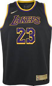 Nike Youth Los Angeles Lakers 2021 Earned Edition Lebron James  Dri-FIT Swingman Jersey product image