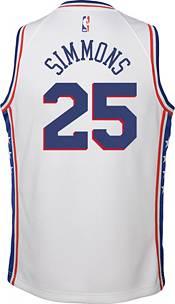 Nike Youth Philadelphia 76ers Ben Simmons #25 White Dri-FIT Swingman Jersey product image