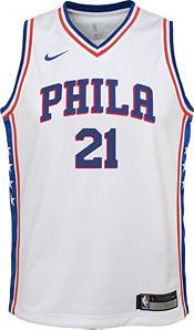 Nike Youth Philadelphia 76ers Joel Embiid #21 White Dri-FIT Swingman Jersey product image