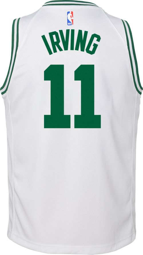 317d9b215fe8 Nike Youth Boston Celtics Kyrie Irving  11 White Dri-FIT Swingman Jersey.  noImageFound. Previous. 1. 2. 3