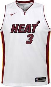 Nike Youth Miami Heat Dwyane Wade #3 Dri-FIT Association Edition Swingman White Jersey product image