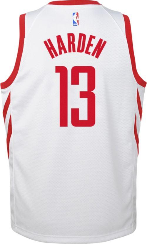1c6393a3e00 Nike Youth Houston Rockets James Harden  13 White Dri-FIT Swingman Jersey.  noImageFound. Previous. 1. 2. 3