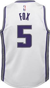 Nike Youth Sacramento Kings De'Aaron Fox #5 Dri-FIT Swingman White Jersey product image
