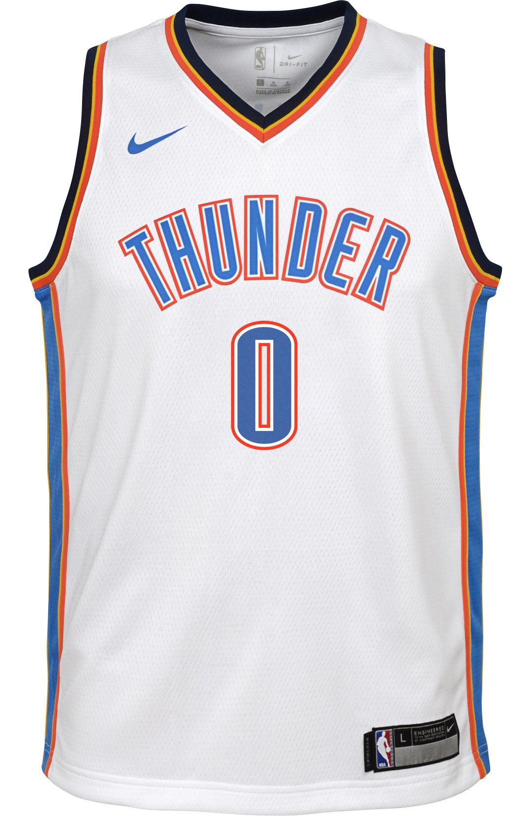 8a805b8ed50 Nike Youth Oklahoma City Thunder Russell Westbrook #0 White Dri-FIT Swingman  Jersey 2