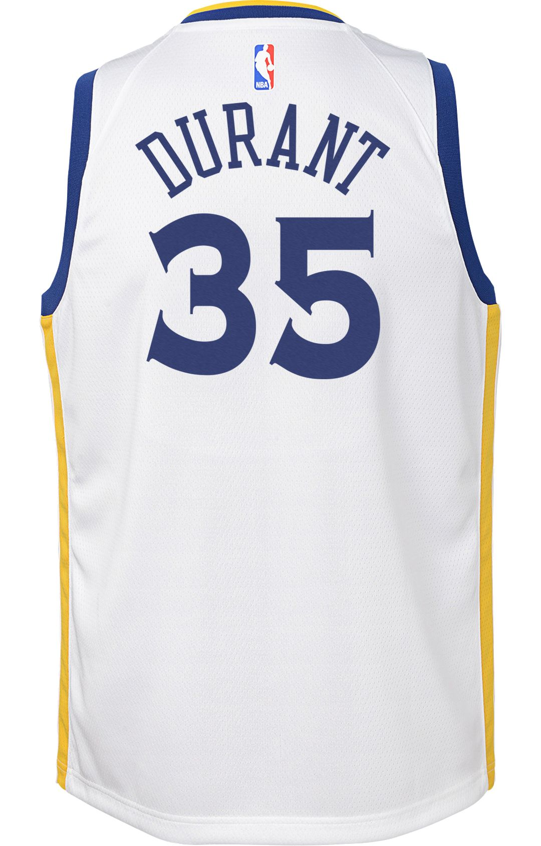 58a02f3b829 Nike Youth Golden State Warriors Kevin Durant  35 White Dri-FIT Swingman  Jersey 3