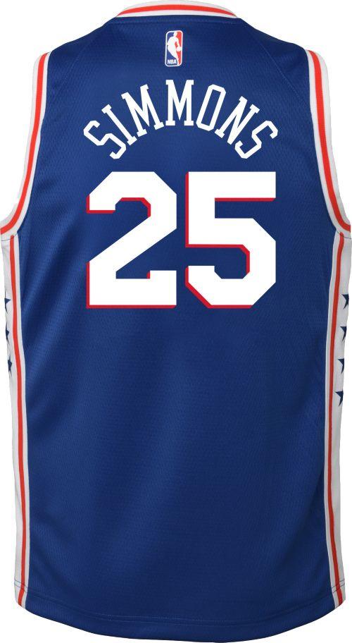 02ffe030e4f Nike Youth Philadelphia 76ers Ben Simmons  25 Royal Dri-FIT Swingman Jersey.  noImageFound. Previous. 1. 2. 3