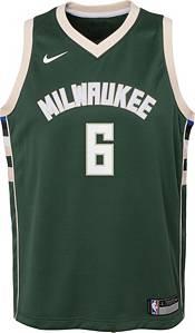 Nike Youth Milwaukee Bucks Eric Bledsoe #6 Green Dri-FIT Icon Swingman Jersey product image