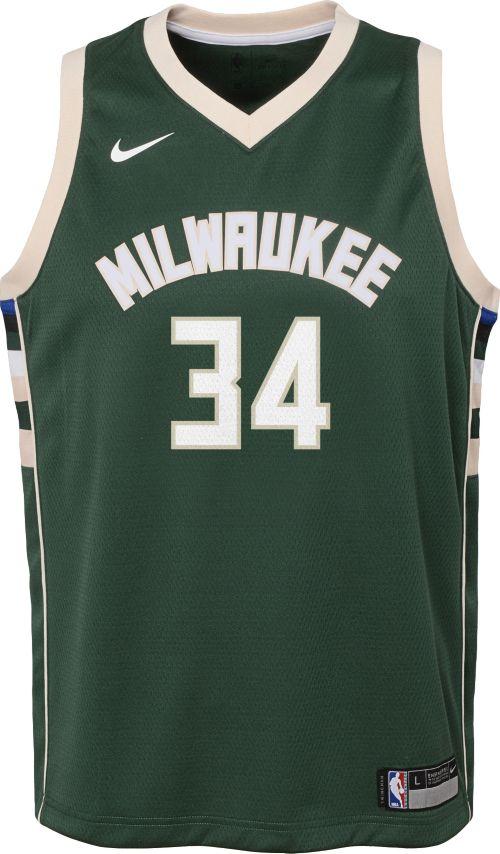 Nike Youth Milwaukee Bucks Giannis Antetokounmpo  34 Green Dri-FIT Swingman  Jersey 01205d2fb