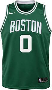 Nike Youth Boston Celtics Jayson Tatum #0 Kelly Green Dri-FIT Swingman Jersey product image