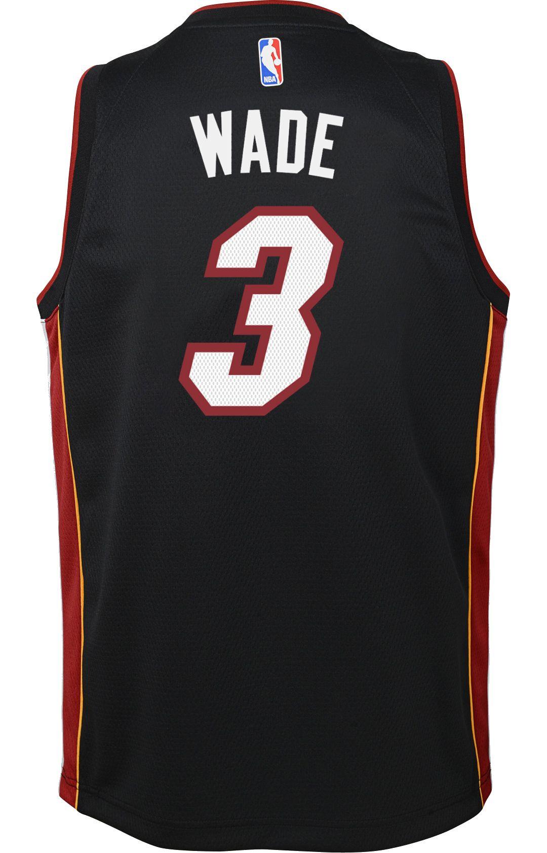 low priced aa762 243c8 Nike Youth Miami Heat Dwyane Wade #3 Black Dri-FIT Swingman Jersey