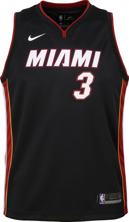 Nike Youth Miami Heat Dwyane Wade  3 Black Dri-FIT Swingman Jersey ... 57864c536