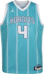 Jordan Youth Charlotte Hornets Devonte' Graham #4 Teal Dri-FIT Swingman Jersey product image