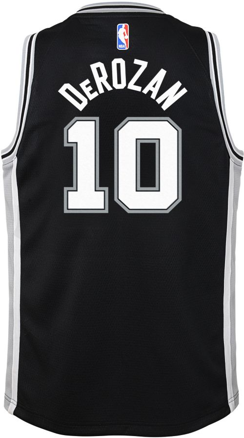 82a4a4365 Nike Youth San Antonio Spurs DeMar DeRozan  10 Black Dri-FIT Swingman Jersey.  noImageFound. Previous. 1. 2. 3