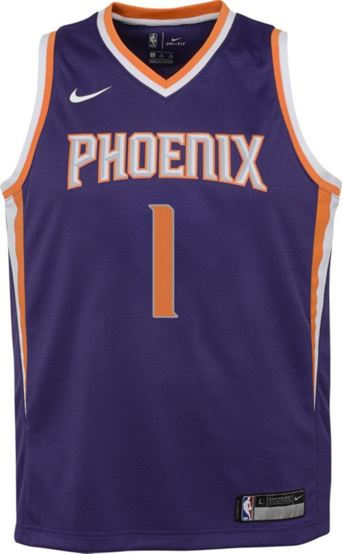 Nike Youth Phoenix Suns Devin Booker  1 Purple Dri-FIT Swingman ... 19cd72e07
