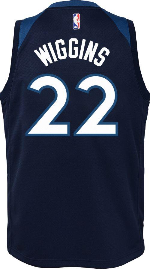 74392f74968 Nike Youth Minnesota Timberwolves Andrew Wiggins  22 Navy Dri-FIT ...