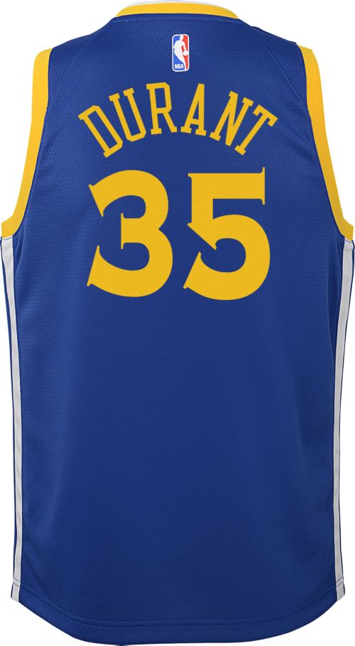 87226f9a5d24 Nike Youth Golden State Warriors Kevin Durant  35 Royal Dri-FIT ...