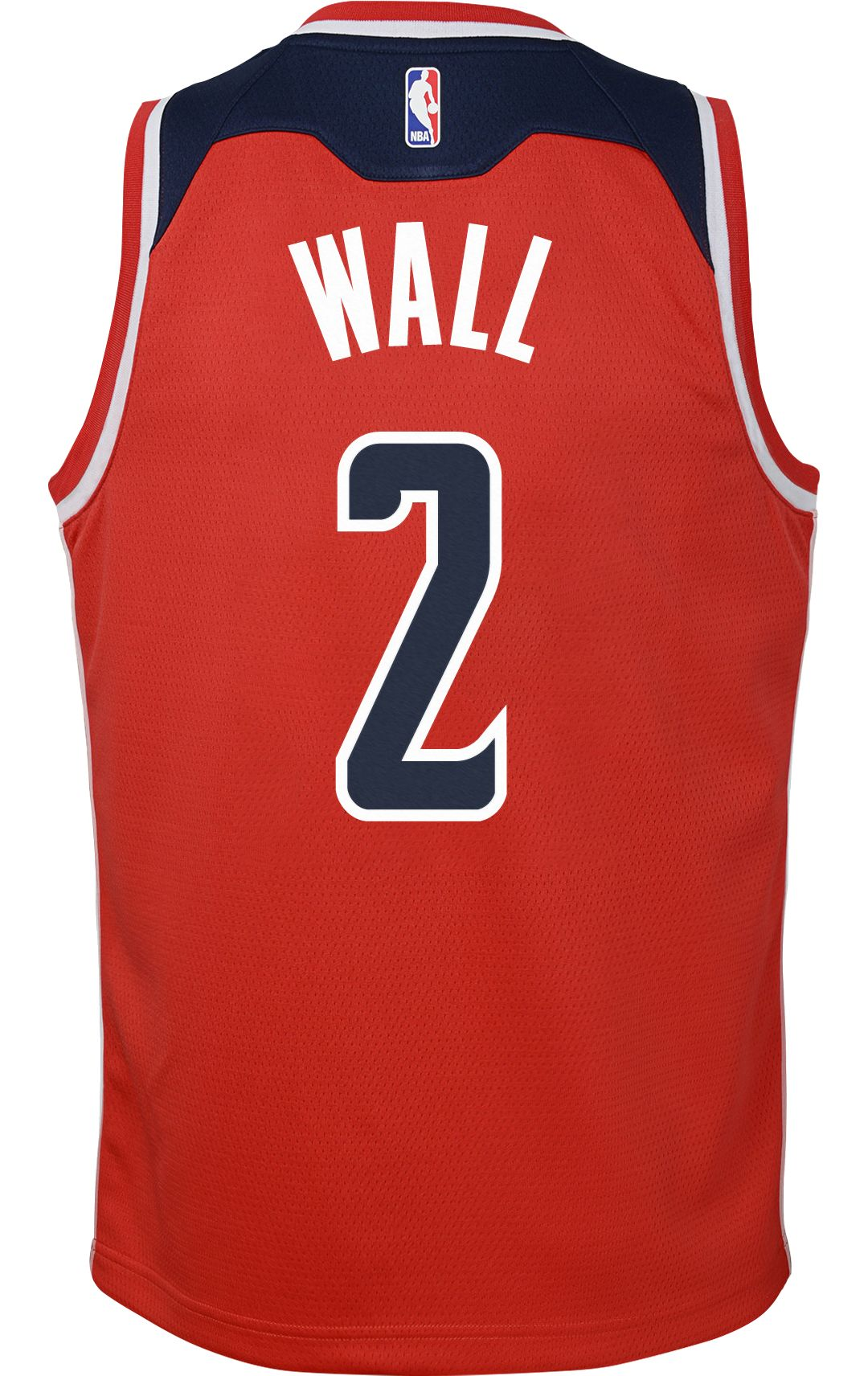 68f55653 Nike Youth Washington Wizards John Wall #2 Red Dri-FIT Swingman ...
