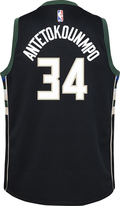 6b8f0544ffd Nike Youth Milwaukee Bucks Giannis Antetokounmpo  34 Black Dri-FIT Swingman  Jersey. noImageFound. Previous. 1. 2. 3