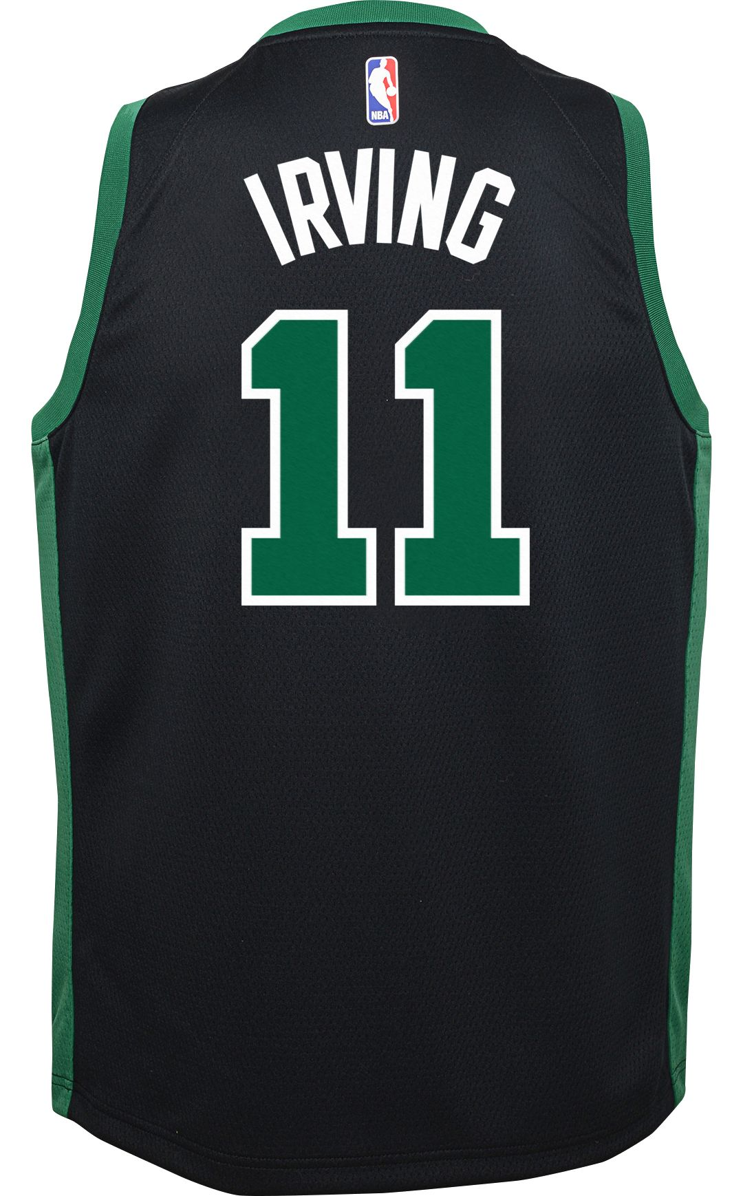 ee4aa7f34c01da Nike Youth Boston Celtics Kyrie Irving #11 Black Dri-FIT Swingman ...