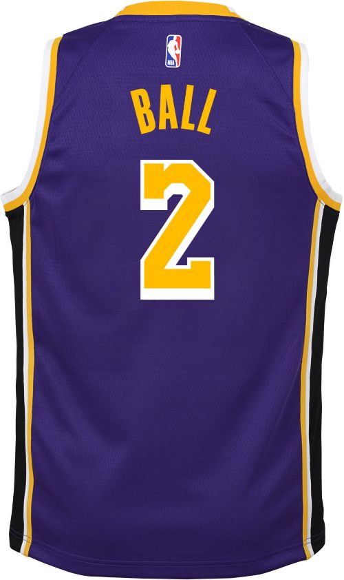 1ccd776b78c9 Nike Youth Los Angeles Lakers Lonzo Ball  2 Purple Dri-FIT Swingman Jersey.  noImageFound. Previous. 1. 2. 3