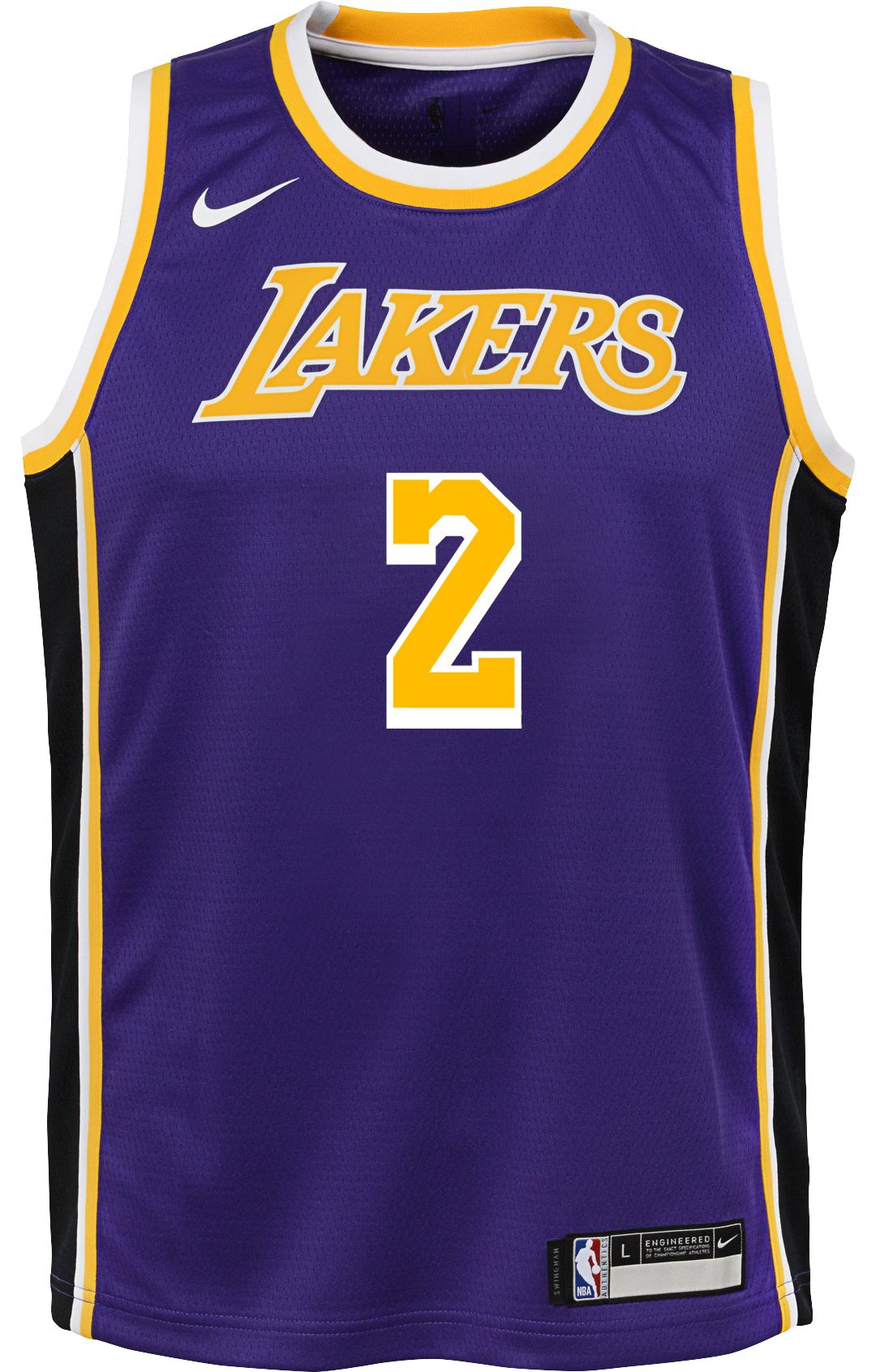 375fb9d16 Nike Youth Los Angeles Lakers Lonzo Ball #2 Purple Dri-FIT Swingman Jersey.  noImageFound. Previous