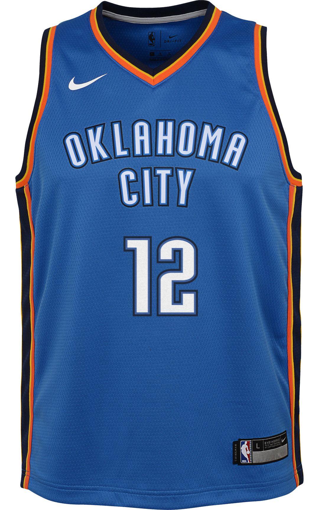 new arrival 43228 39c7e Nike Youth Oklahoma City Thunder Steven Adams #12 Blue Dri-FIT Swingman  Jersey
