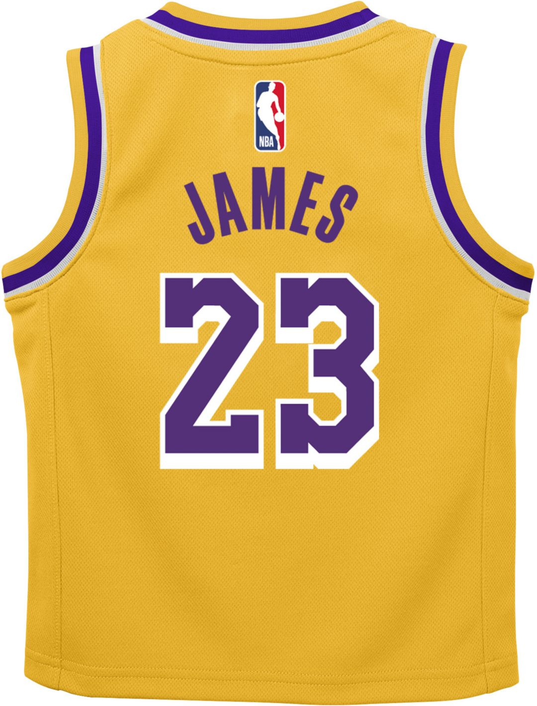 new products 83afc aa5ee Nike Infant Los Angeles Lakers LeBron James #23 Gold Dri-FIT Swingman Jersey