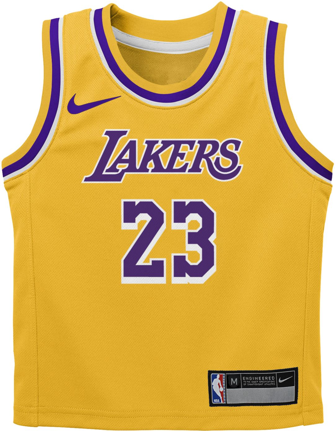 competitive price e1152 f05f8 Nike Infant Los Angeles Lakers LeBron James  23 Gold Dri-FIT Swingman Jersey