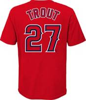 Nike Youth 4-7 Los Angeles Angels Mike Trout #27 Red T-Shirt product image
