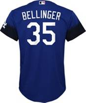 Nike Youth Los Angeles Dodgers Cody Bellinger #35 Royal 2021 City Connect Cool Base Jersey product image
