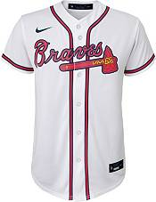 Nike Youth Replica Atlanta Braves Ozzie Albies #1 Cool Base White Jersey product image
