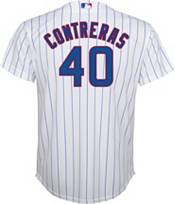 Nike Youth Replica Chicago Cubs Wilson Contreras #40 Cool Base White Jersey product image