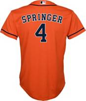 Nike Youth Replica Houston Astros George Springer #4 Cool Base Orange Jersey product image