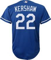Nike Youth Replica Los Angeles Dodgers Clayton Kershaw #22 Cool Base Royal Jersey product image