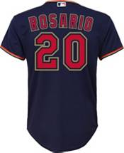 Nike Youth Replica Minnesota Twins Eddie Rosario #20 Cool Base Navy Jersey product image