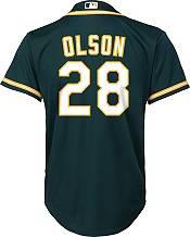 Nike Youth Replica Oakland Athletics Matt Olson #28 Cool Base Green Jersey product image