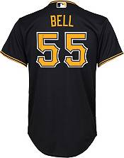Nike Youth Replica Pittsburgh Pirates Josh Bell #55 Cool Base Black Jersey product image