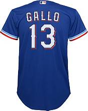 Nike Youth Replica Texas Rangers Joey Gallo #13 Cool Base Blue Jersey product image
