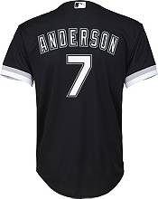 Nike Youth Replica Chicago White Sox Tim Anderson #7 Cool Base Black Jersey product image
