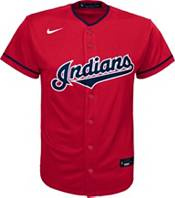 Nike Youth Replica Cleveland Indians Francisco Lindor #12 Cool Base Red Jersey product image